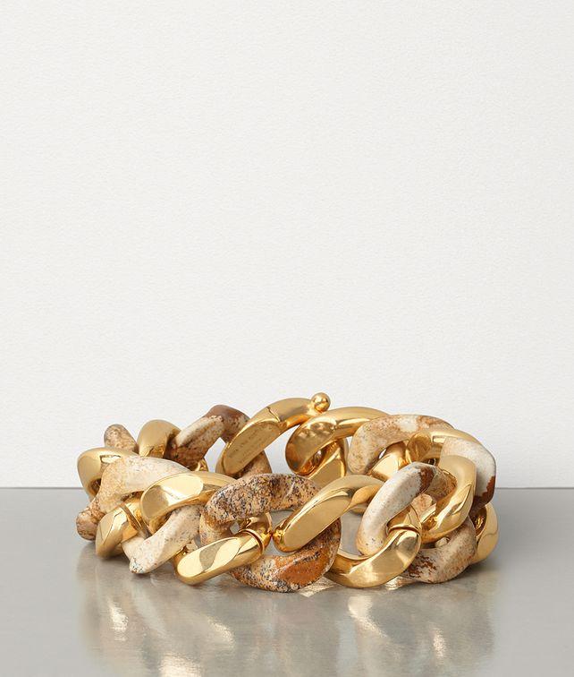 BOTTEGA VENETA BRACELET IN PICTURE JASPER AND GOLD-PLATED SILVER Bracelet Woman fp