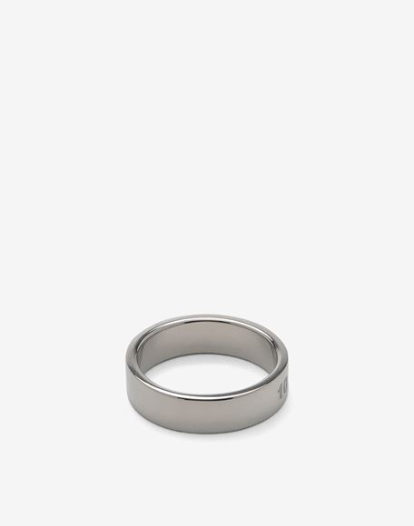 MAISON MARGIELA Engraved silver logo ring Ring Man a