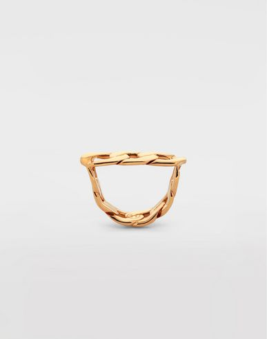 JEWELLERY Flat chain ring Gold