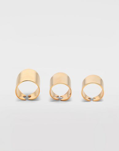 JEWELLERY Set of 3 rings Gold