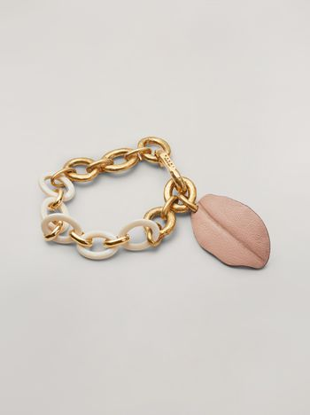 Marni NATURE bracelet in resin metal and leather Woman f