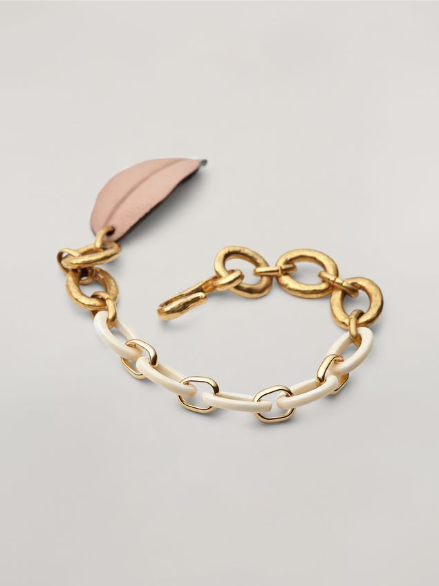 Marni NATURE bracelet in resin metal and leather Woman - 3