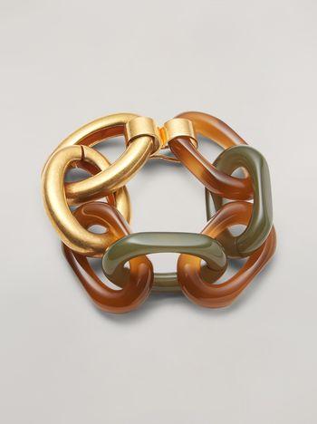 Marni VERTIGO bracelet in resin and metal Woman f