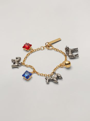 Marni GIGA JACKS bracelet in resin and metal Woman f
