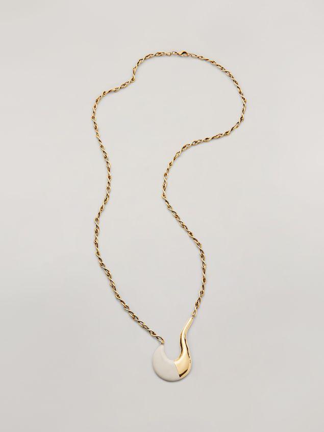 Marni Collana lunga BLOW UP in metallo con pendente a uncino dipinto Donna - 1