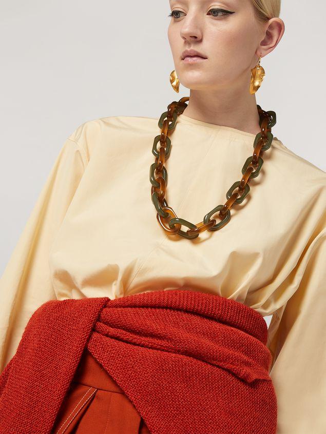 Marni VERTIGO long necklace in resin strass and metal with hexagonal ornament Woman - 2