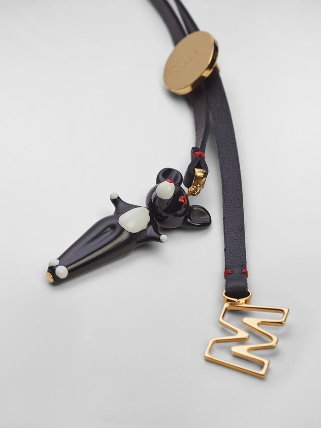 Marni CHINESE NEW YEAR 2020 necklace in metal and leather with rat Zodiac sign pendant Woman - 3