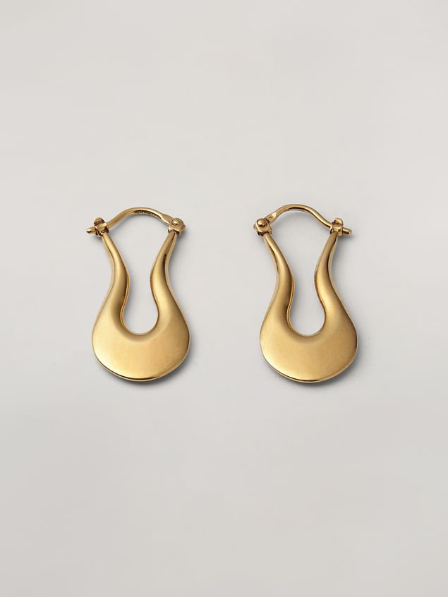Marni BLOW UP earrings in metal with harp-shaped pendant Woman - 1