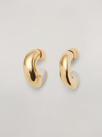 Marni BLOW UP earrings in metal with C-shaped pendant Woman f