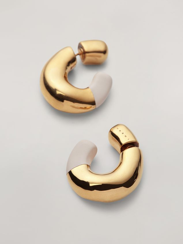 Marni BLOW UP earrings in metal with C-shaped pendant Woman - 4
