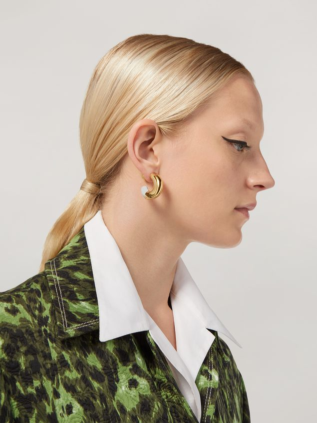 Marni BLOW UP earrings in metal with C-shaped pendant Woman - 2