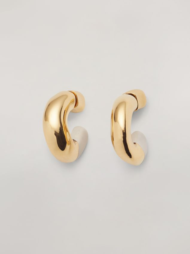 Marni BLOW UP earrings in metal with C-shaped pendant Woman - 1