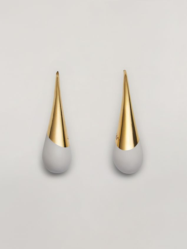 Marni BLOW UP earrings in metal with painted drop-shaped pendant Woman - 1