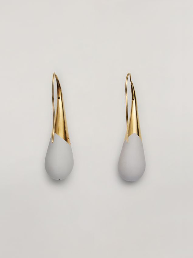 Marni BLOW UP earrings in metal with painted drop-shaped pendant Woman - 3