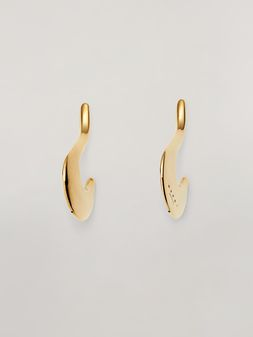 Marni BLOW UP earrings in metal with hook-shaped pendant Woman