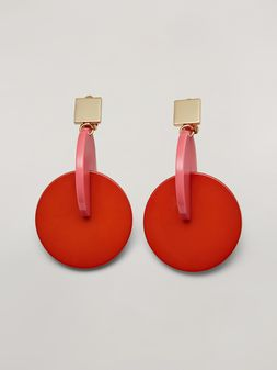 Marni VERTIGO earrings in metal and resin pink and red Woman