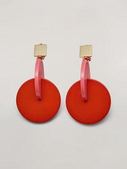 Marni Orecchini VERTIGO in metallo e resina rosa e rosso Donna