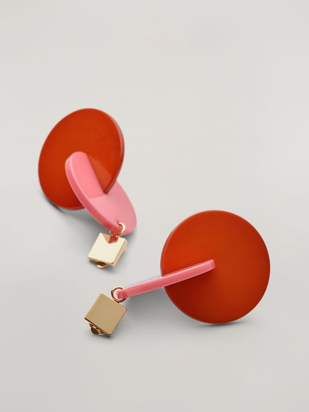 Marni VERTIGO earrings in metal and resin pink and red Woman - 4
