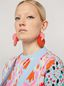 Marni VERTIGO earrings in metal and resin pink and red Woman - 2