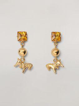 Marni Ohrringe GIGA JACKS aus Metall und Glas mit Anhänger in Ponyform Damen