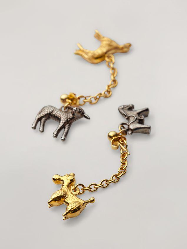 Marni Ohrringe GIGA JACKS aus Metall und Glas mit Anhängern in Tierform Damen - 4