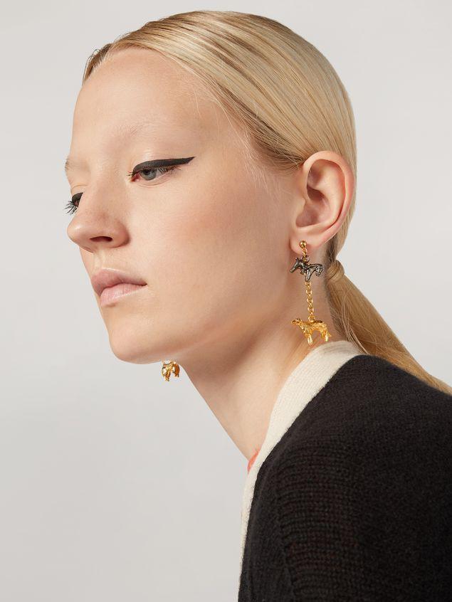 Marni Ohrringe GIGA JACKS aus Metall und Glas mit Anhängern in Tierform Damen - 2