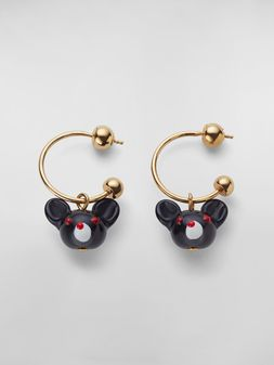 Marni CHINESE NEW YEAR 2020 earrings in metal and resin with rat Zodiac sign pendant Woman