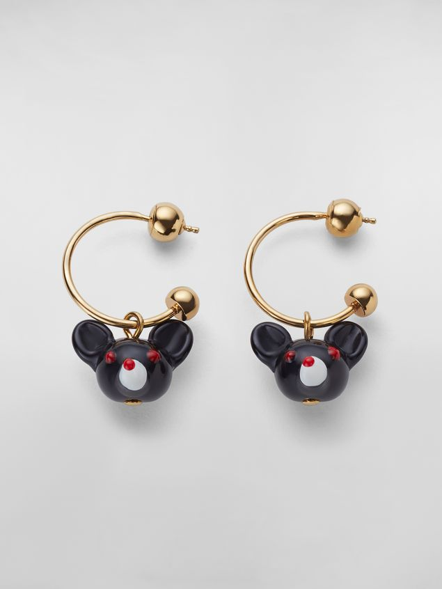 Marni CHINESE NEW YEAR 2020 earrings in metal and resin with rat Zodiac sign pendant Woman - 1