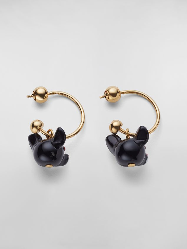Marni CHINESE NEW YEAR 2020 earrings in metal and resin with rat Zodiac sign pendant Woman - 3