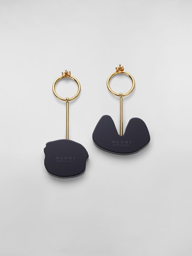 Marni WANDERING IN STRIPES earrings in resin and metal with pendants  Woman - 3