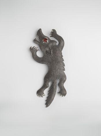 Marni KAZUMA NAGAI metal bird brooch Man f