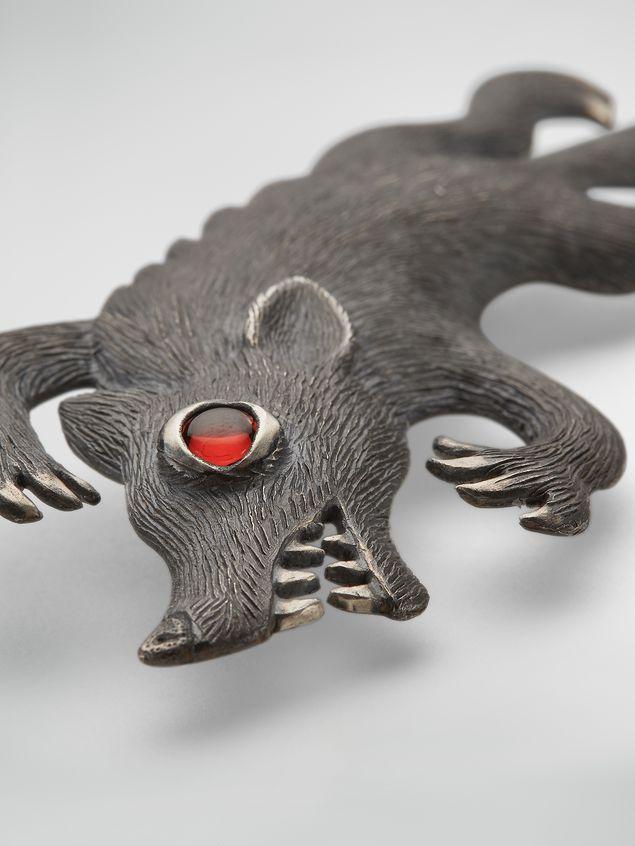 Marni Metal brooch KAZUMA NAGAI bird Man - 3