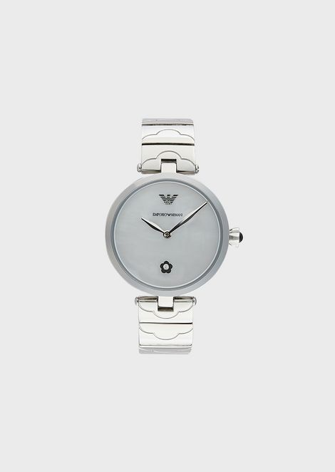 Women's Stainless Steel Two-Hand Watch