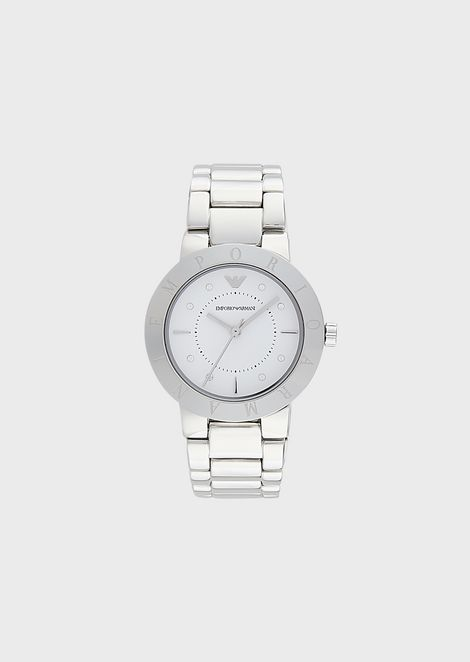 Reloj de acero inoxidable con tres manecillas para mujer