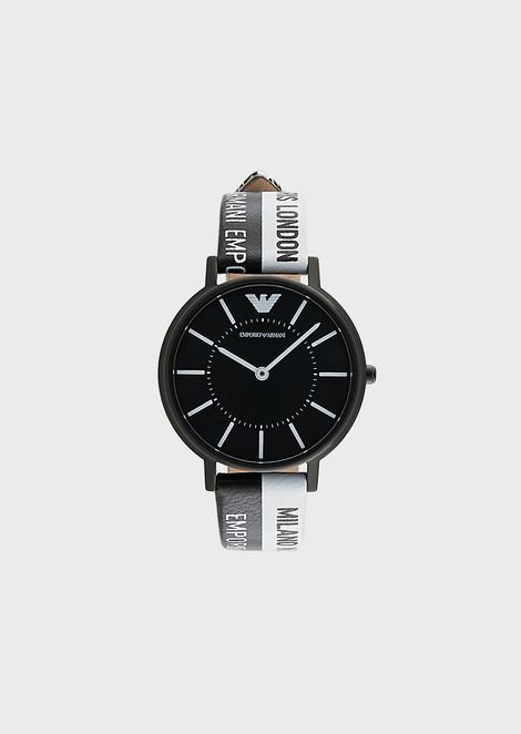Women's Leather Three-Hand Watch