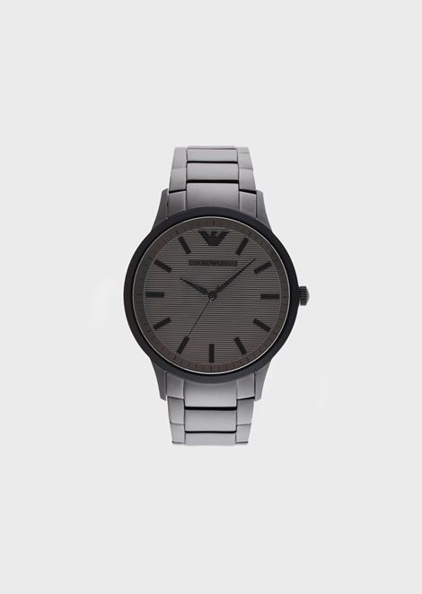 Men's Stainless Steel Three-Hand Watch