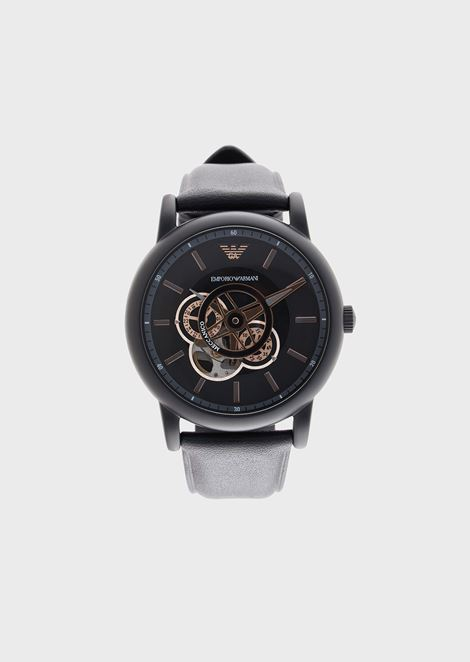 Men's Automatic Leather Watch