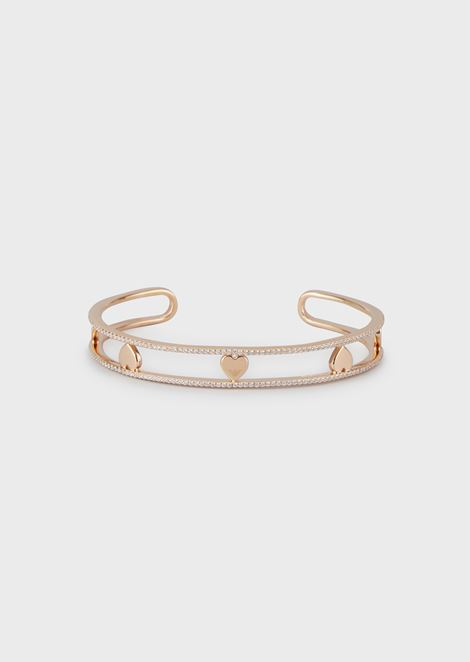 Women's Rose Gold-Tone Sterling Silver Cuff Bracelet