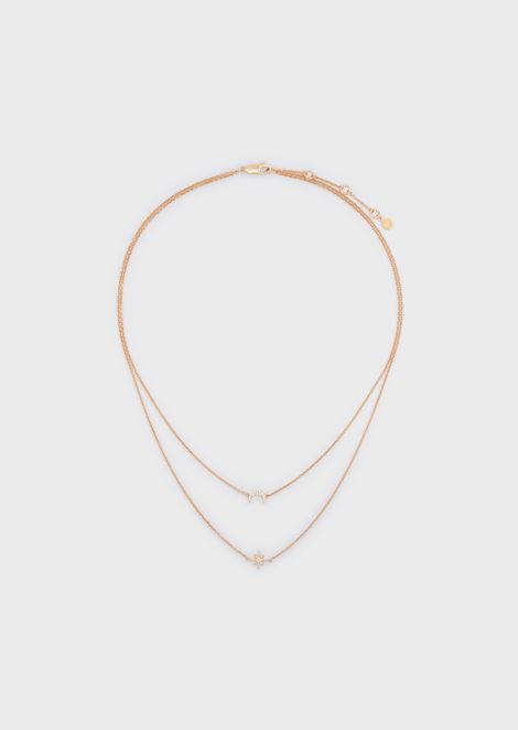 Women's Rose Gold-Tone Sterling Silver Multi-Strand Necklace