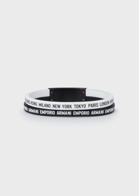 Men's Cities black & white Multi-Strand Brecelet