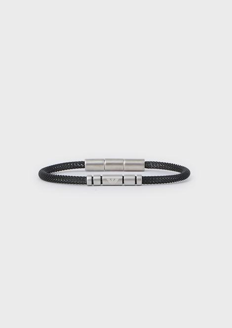 Men's Silver-tone Stainless Steel Bracelet