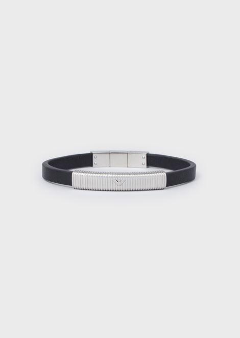 Bracelet en acier inoxydable couleur argent pour homme