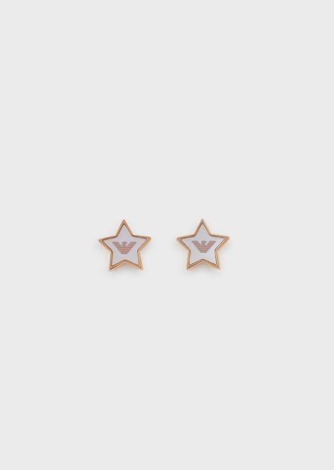Women's Rose Gold-Tone Stainless Steel Stud Earrings