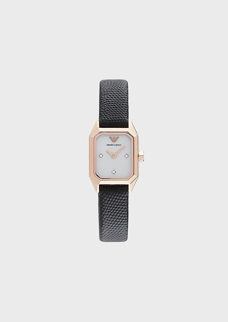 Women's Leather Two-Hand Watch