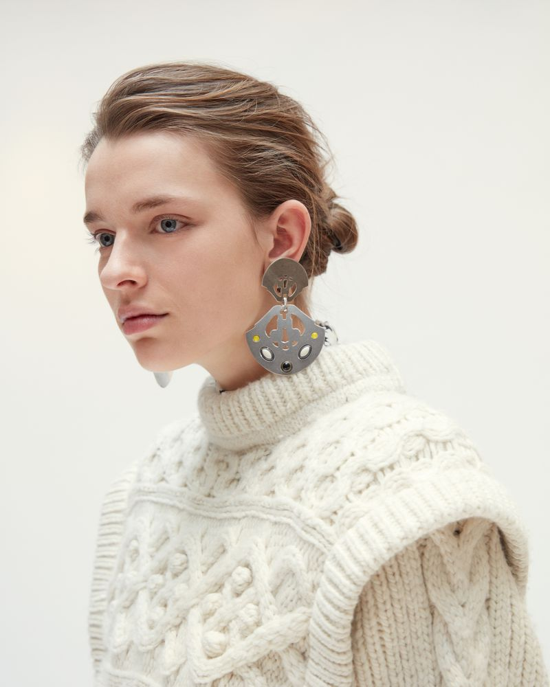 STUDDED SHIELD EARRINGS ISABEL MARANT