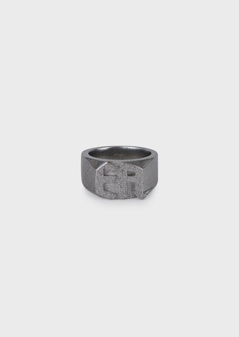Men's Silver-tone Stainless Steel Ring