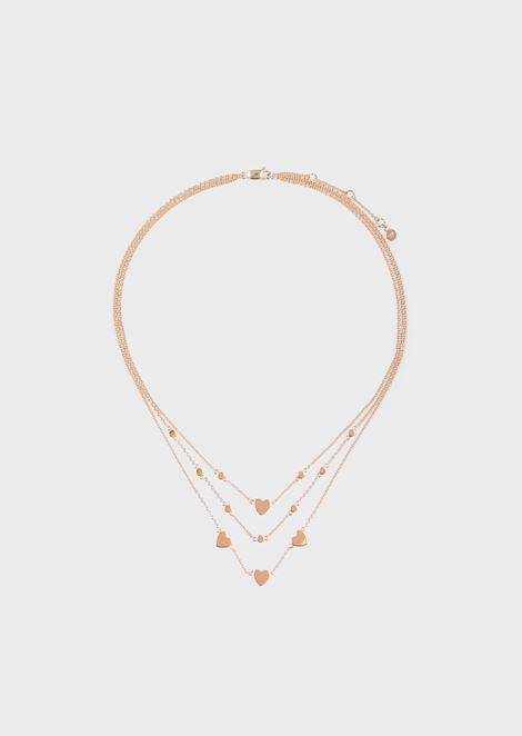 Women's Rose Gold-Tone Sterling Silver Multi-Strand Disc Necklace