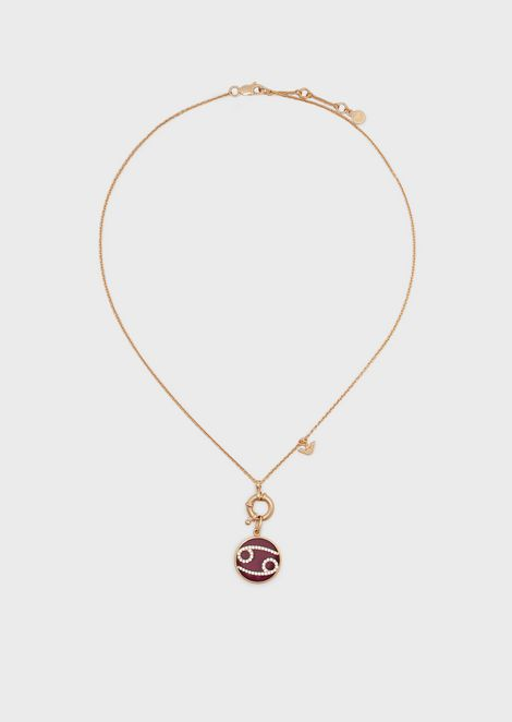 Women's Cancer Rose Gold-Tone Sterling Silver Pendant Necklace