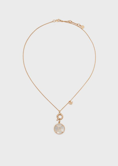 Women's Gemini Rose Gold-Tone Sterling Silver Pendant Necklace
