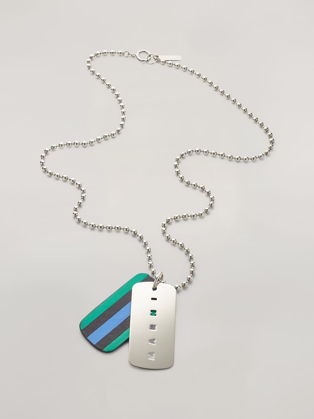 Marni Necklace in metal and leather Man - 1